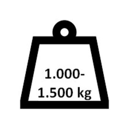 1.000 - 1.500 kg