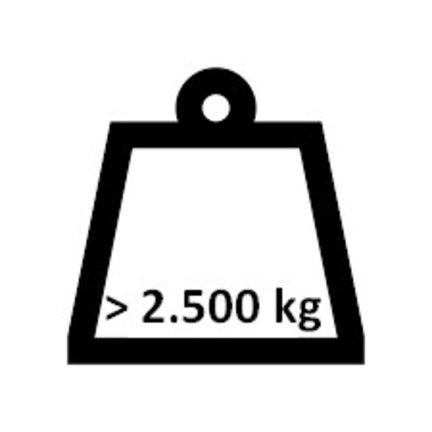 Boven 2.500 kg