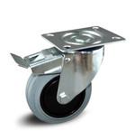 Elastisch grijs rubber wielen