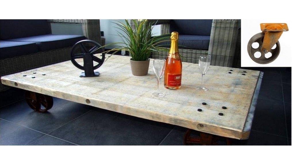 Boost uw interieur met vintage wielen onder uw meubels!