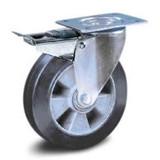 Black elastic wheels