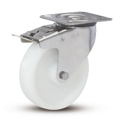 Nylon - Stainless steel castors