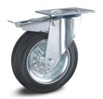 Swivel wheels with brake