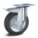 Gummi Rollen - Stahl Radkörper