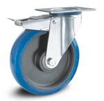Ruote Elastica Blu - INOX