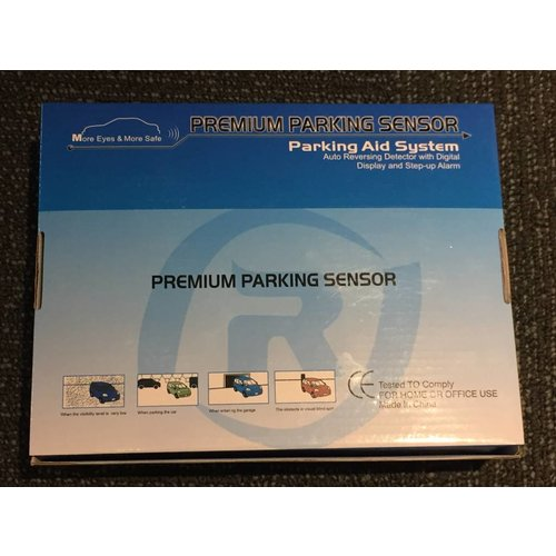 Premium Parking Sensor with White Sensors (Parking Aid System)