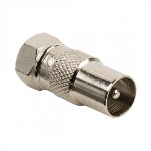Adapter F-conn. - IEC 9,5 mm steker
