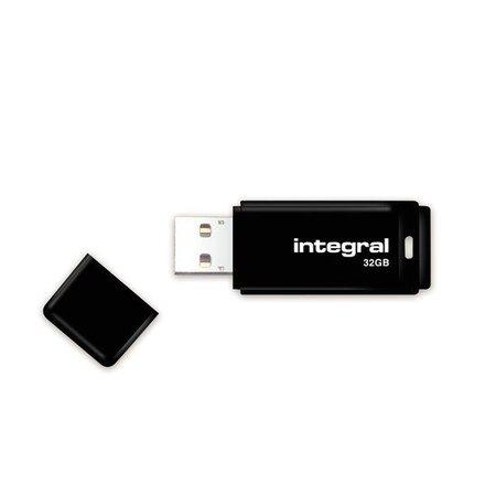 intergal Integral USB-sticks 32GB Black USB Flash Drive