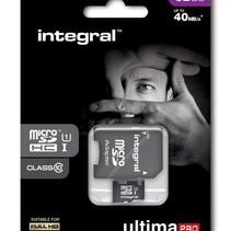 Integral UltimaPro 32GB MicroSDHC Card - Class 10 - 90MB/s + SD Adapter