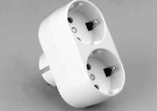 Adapter 1x steker - 2x contra steker met randaarde