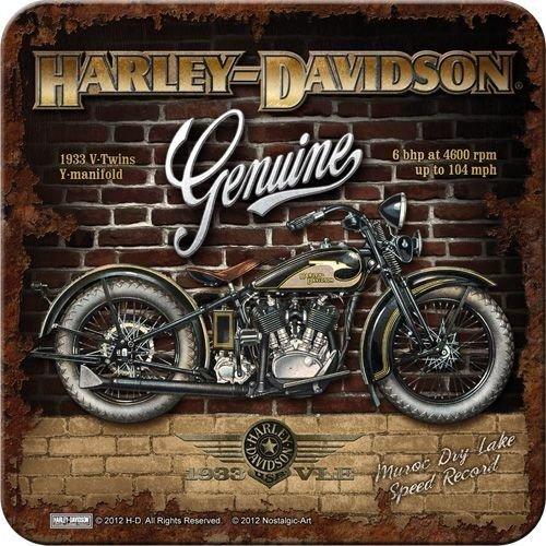 Harley-Davidson Brick Wall onderzetter 4 stuks