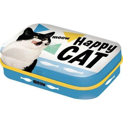 nostalgic art Mint Box Happy Cat