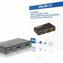 2-Poorts HDMI Schakelaar Zwart