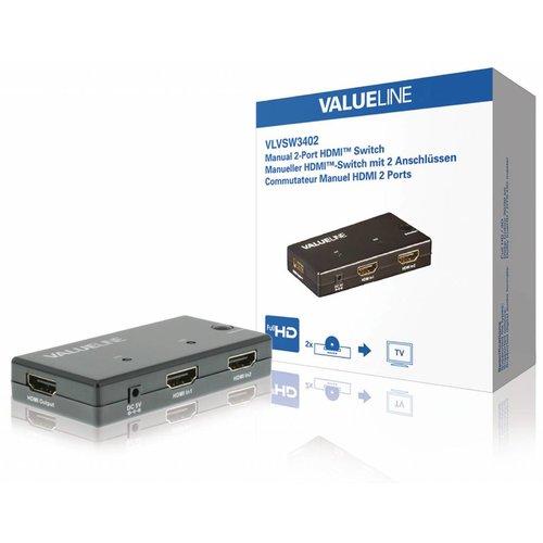 Valueline 2-Poorts HDMI Schakelaar Zwart