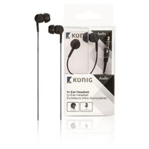 konig in-ear headset - zwart