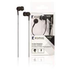 konig in-ear headset - zwart