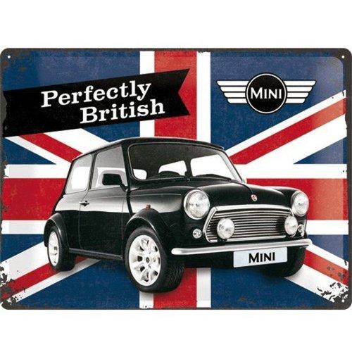 Mini Perfectly Britisch Reclame wandbord, Reclamebord, Metaal