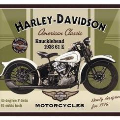 Harley-Davidson-Metalen Wandplaat 3-D - 30 X 40 CM