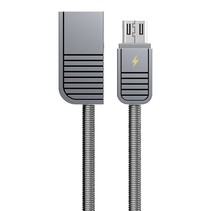 Remax Linyo lighting USB Cable with Stainless Steel Shell - Koper