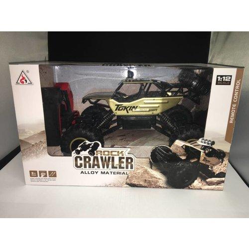 Rock crawler speciall rc auto (goud)