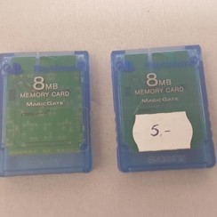 1x ps2 memory card-blauw