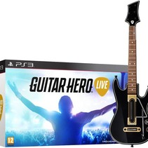 Guitar Hero Live game + Guitar controller in doos
