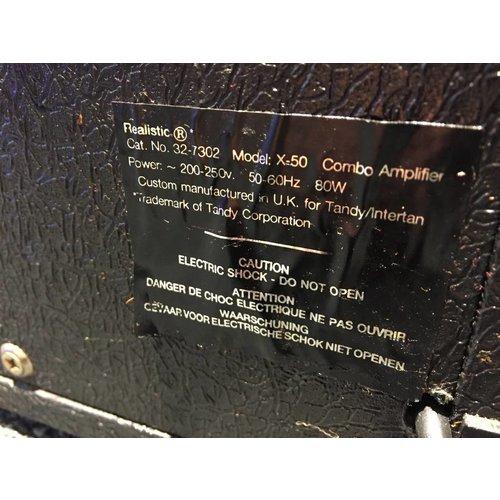 Realistic REALISTIC X-50 COMBO AMPLIFIER 80 WATT!