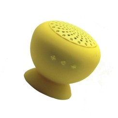 Waterproof bluetooth speaker met zuignap - geel