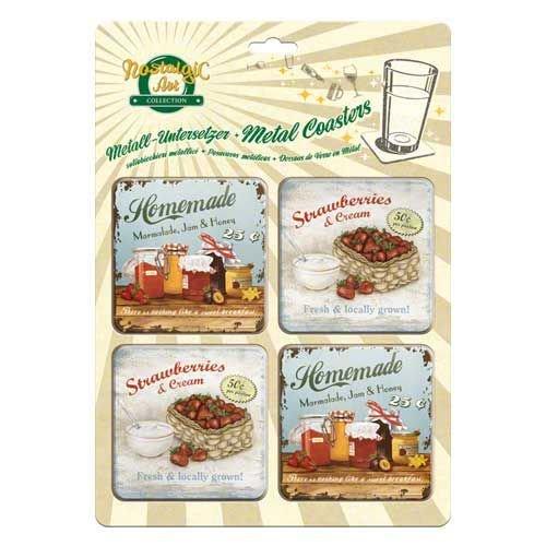 Metalen onderzetter (Homemade marmalde, Strawberries)