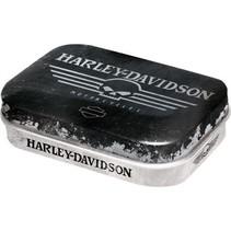 Harley davidson skull pepermuntdoosje