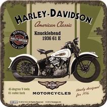 Harley-Davidson Knucklehead onderzetters 4 stuks