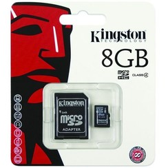 Kingston microSDHC 8GB Class 4 + adapter