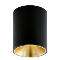 EGLO plafondspot Polasso - zwart/goud - Ø10 cm