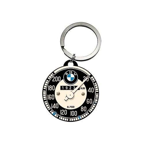nostalgic art BMW auto Speedo ronde metalen Sleutelhanger