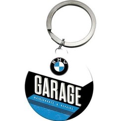 BMW garage ronde metalen Sleutelhanger