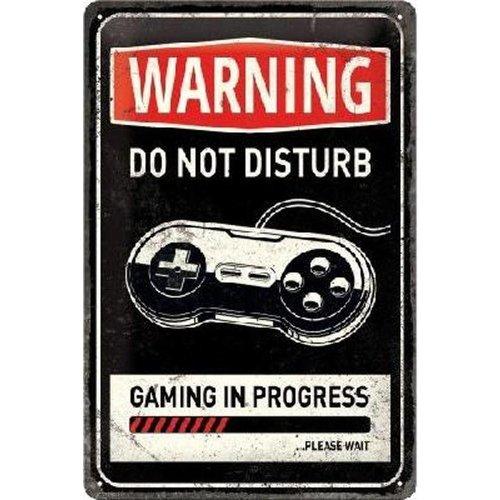 nostalgic art Warning do not disturb metal plate 20x30