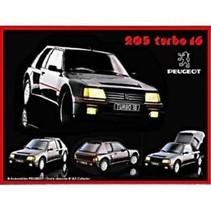 Peugeot 205 turbo 16 wandbord in reliëf 20 x 30 cm