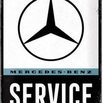 Mercedes-benz service metal plate 40x30CM