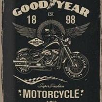 GoodYear Motorcycle Tires metal plate 40x30CM
