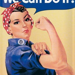 We Can Do It! metal plate 40x30CM