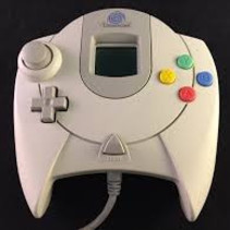 dreamcast controller met hkt-7000 visual memory unit