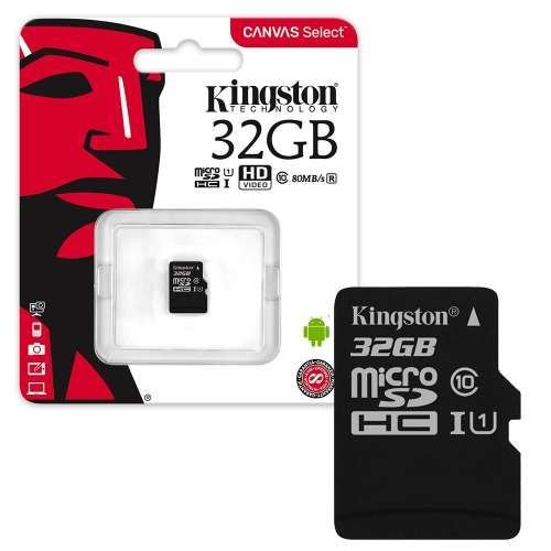 Kingston Kingston micro SD kaart 32GB + SD-adapter