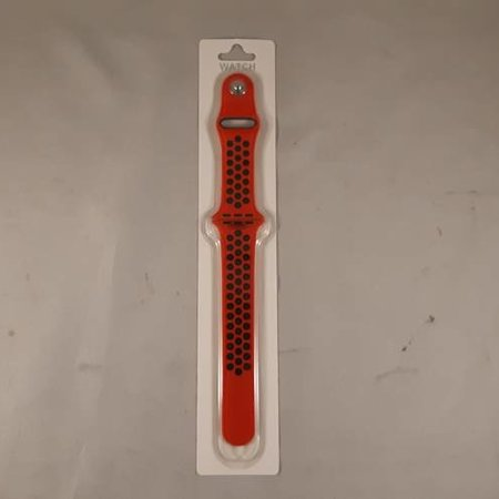applewatch band - rood/zwart - 42mm