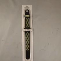 applewatch band - zwart/limegroen - 38 mm