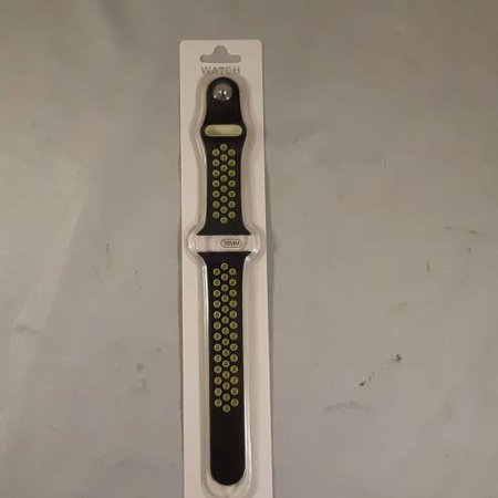 applewatch band - zwart/limegroen - 38 mm