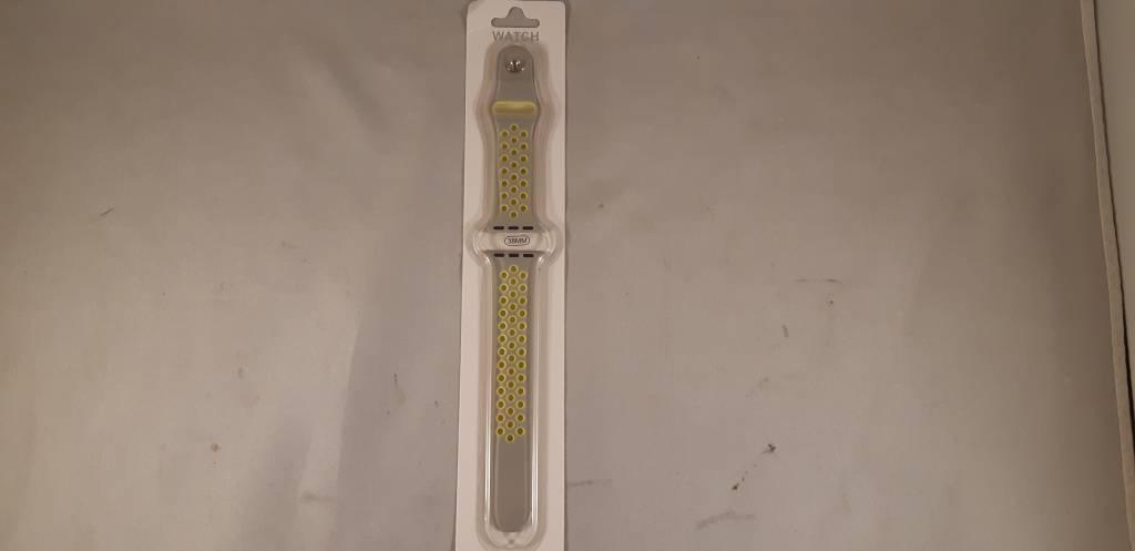 applewatch band - grijs/limegroen - 38mm
