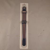 applewatch band- donkerblauw en roze