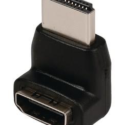 Valueline Gehoekt HDMI-Connector - HDMI Female Zwart