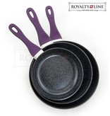 Royalty Line Royalty Line 3 delige koekenpannenset paars