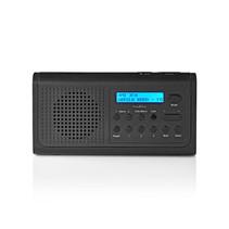 Nedis DAB+-radio   3 W   FM   Klok- en alarmfunctie   Zwart